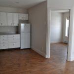 Kitchen and bedroom doorway