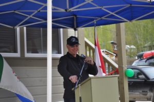 Yukon Housing Chair, Nelson Lepine jokes with audience
