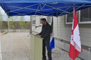 Premier Sandy Silver addressing audience