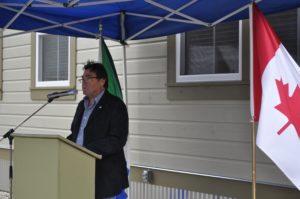 KDO President Brian Stethem addresses audience