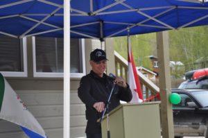 Yukon Housing Chair, Nelson Lepine jokes with audience